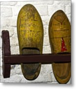 Old Dutch Wooden Shoes Metal Print