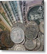 Old Ecuadorian Currency Metal Print