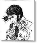 Old Elvis Metal Print