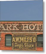 Old Faded Advertisement On An Old Brick Building Metal Print