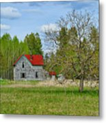 Old Farm House In Langley Metal Print