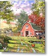 Old Farm House Variant 1 Metal Print
