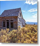 Old Farm House Widtsoe Utah Ghost Town Metal Print