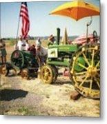 Old Farm Tractor Metal Print