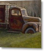 Old Farm Truck Metal Print