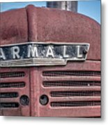 Old Farmall Tractor Grill And Nameplate Metal Print
