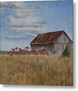 Old Farmer's Barn Metal Print