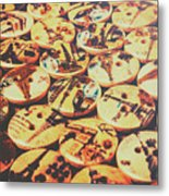 Old Fashion Landmark Buttons Metal Print