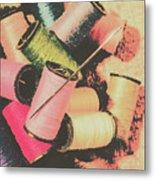 Old Fashion Threads Metal Print
