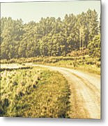 Old-fashioned Country Lane Metal Print