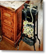 Old Fashioned Dictaphone Metal Print by Susan Savad