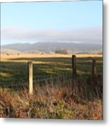 Old Fence And Landscape Along Sir Francis Drake Boulevard At Point Reyes California . 7d9965 Metal Print