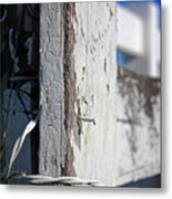 Old Fence Post Metal Print