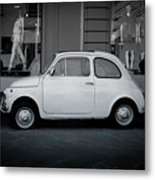 Old Fiat On The Streets Of Florence Metal Print