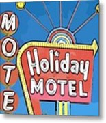 Old Fifties Vegas Hotel Sign Painting Metal Print
