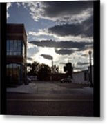 Old Fire House At Sunset - 200370 Metal Print
