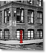 Old Fire Hydrant In Dumbo Brooklyn Metal Print