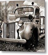 Old Firetruck Metal Print