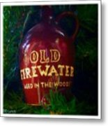 Old Firewater Aged In The Woods Metal Print