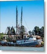Old Fishing Boat In Port Metal Print