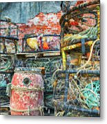 Old Fishing Gear Metal Print