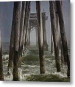 Old Fishing Pier Ocnj Metal Print