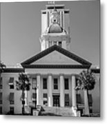 Old Florida Capitol In Black And White  Metal Print
