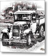 Old Ford Homemade Pickup Metal Print
