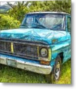 Old Ford Pick Up Truck Pencil Metal Print