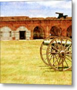 Old Fort And Cannon Still Liife Metal Print