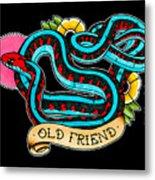 Old Friend Red-sided Gartersnake Metal Print