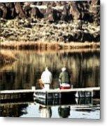 Old Friends Fishing Metal Print