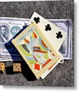 Old Gambling Articles Metal Print