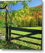Old Gate At East Orange Metal Print