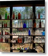 Old Glass Metal Print