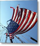 Old Glory Blowing In The Breeze Metal Print
