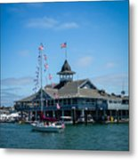 Old Glory Boat Parade Metal Print