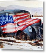 Old Glory Metal Print