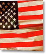 Old Glory Flag In Breeze Metal Print