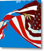 Old Glory Flying Metal Print