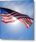 Old Glory In The Sun Metal Print