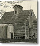 Old Grainery Metal Print by Bryan Baumeister