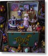 Old Green Toy Box Metal Print