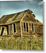 Old Home Falling In Metal Print