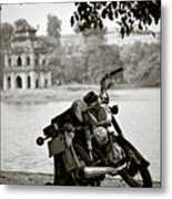 Old Honda In Hanoi Metal Print