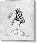 Old Horse Blinker Patent Metal Print