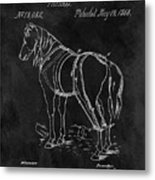 Old Horse Harness Patent  Metal Print