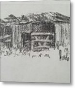 Old Horse Shed  Metal Print