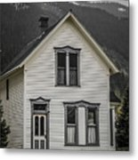 Old House And Dandelions Metal Print