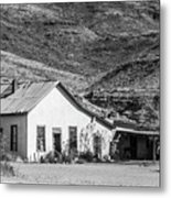 Old House And Foothills Metal Print